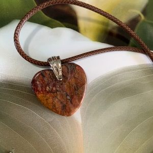 Mexico Crazy Lace Agate Necklace on Vegan Cord